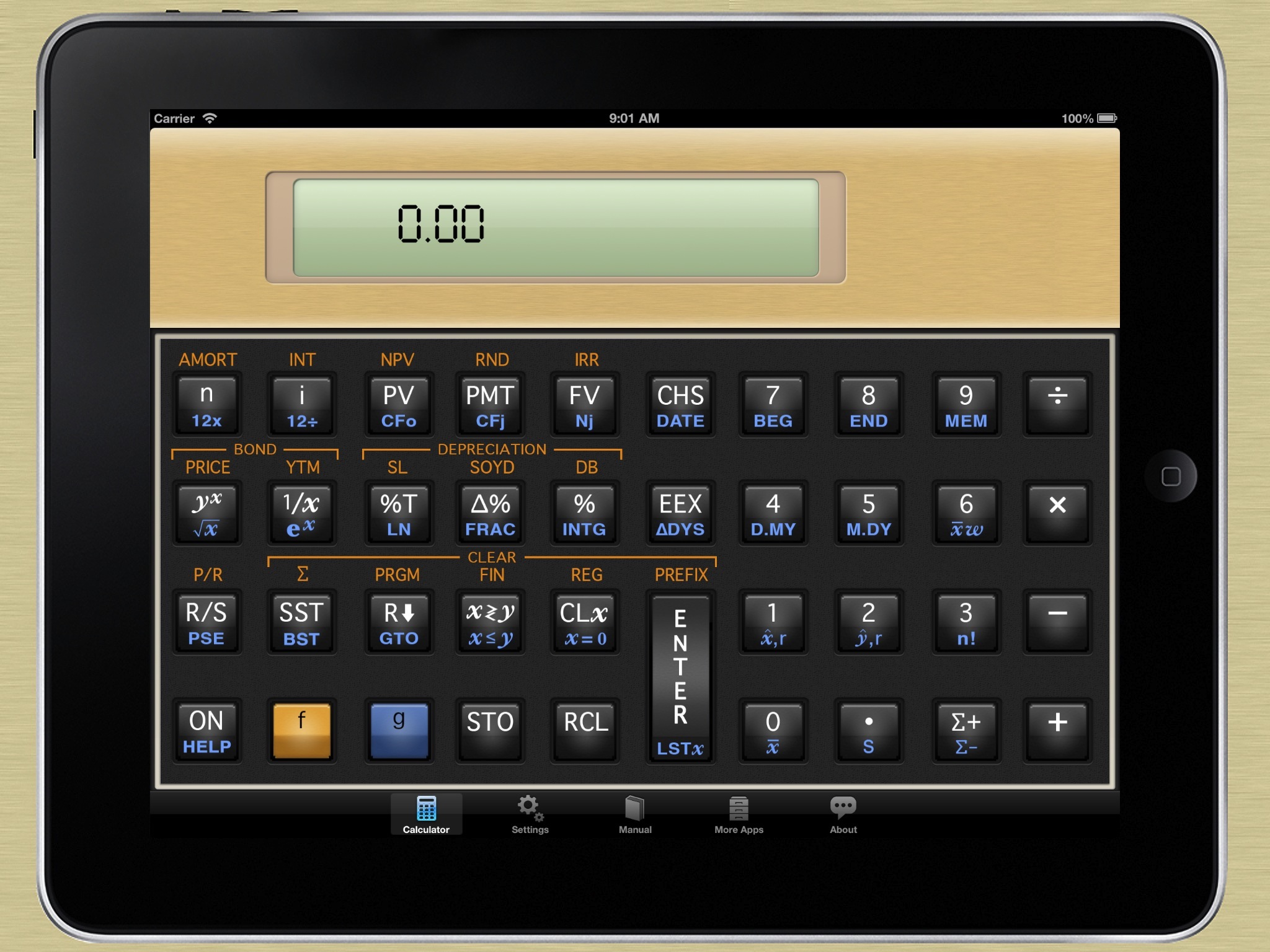 12C Financial Calculator for iPad