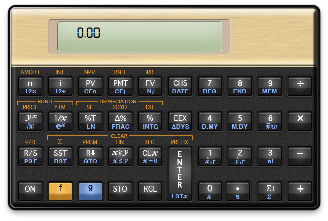 12C financial calculator for Mac