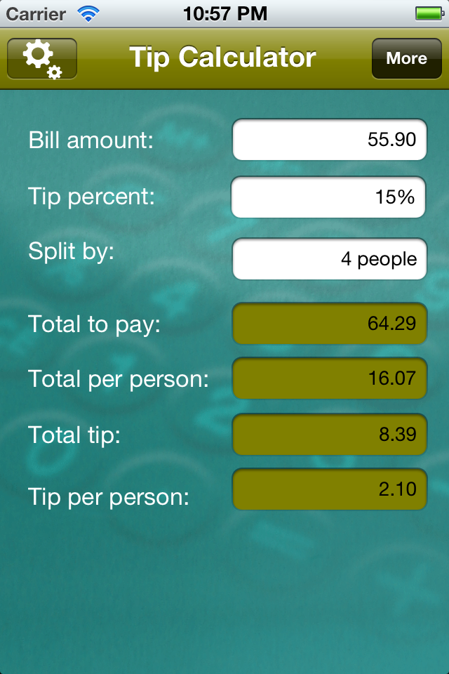 Tip Calculator Slide