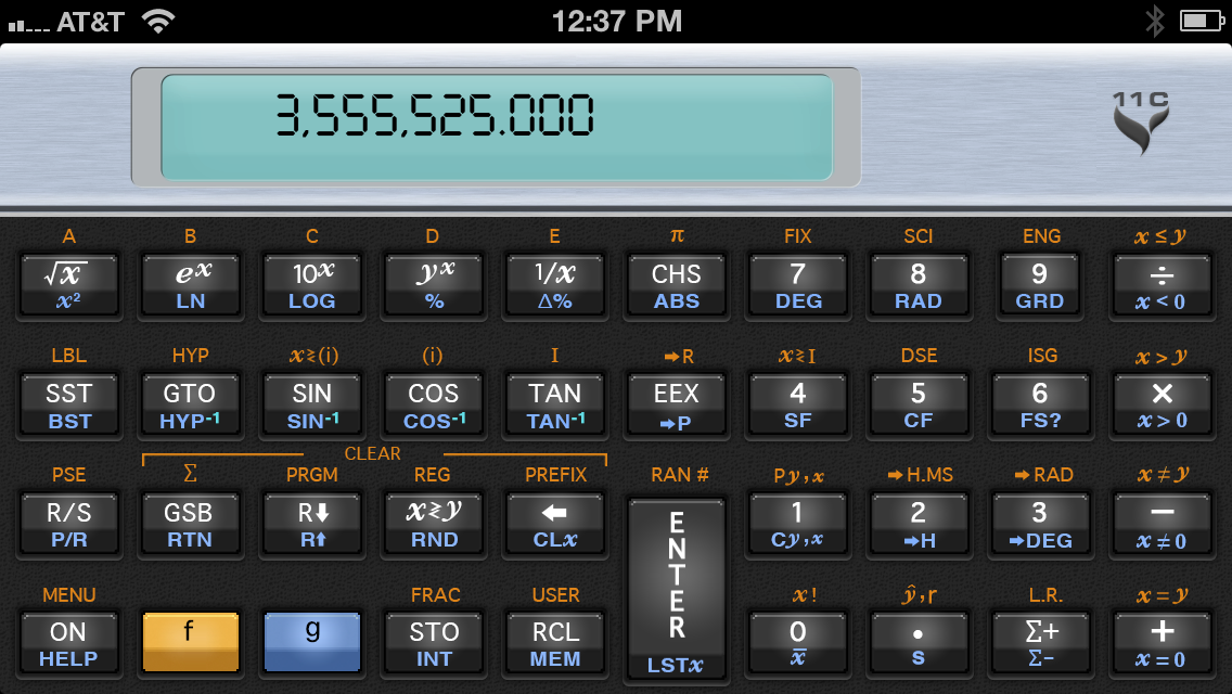 11C Scientific Calculator Slide