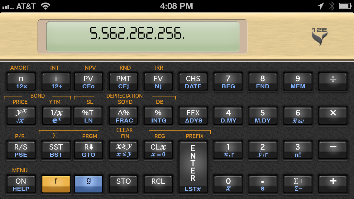 12C Financial Calculator slide