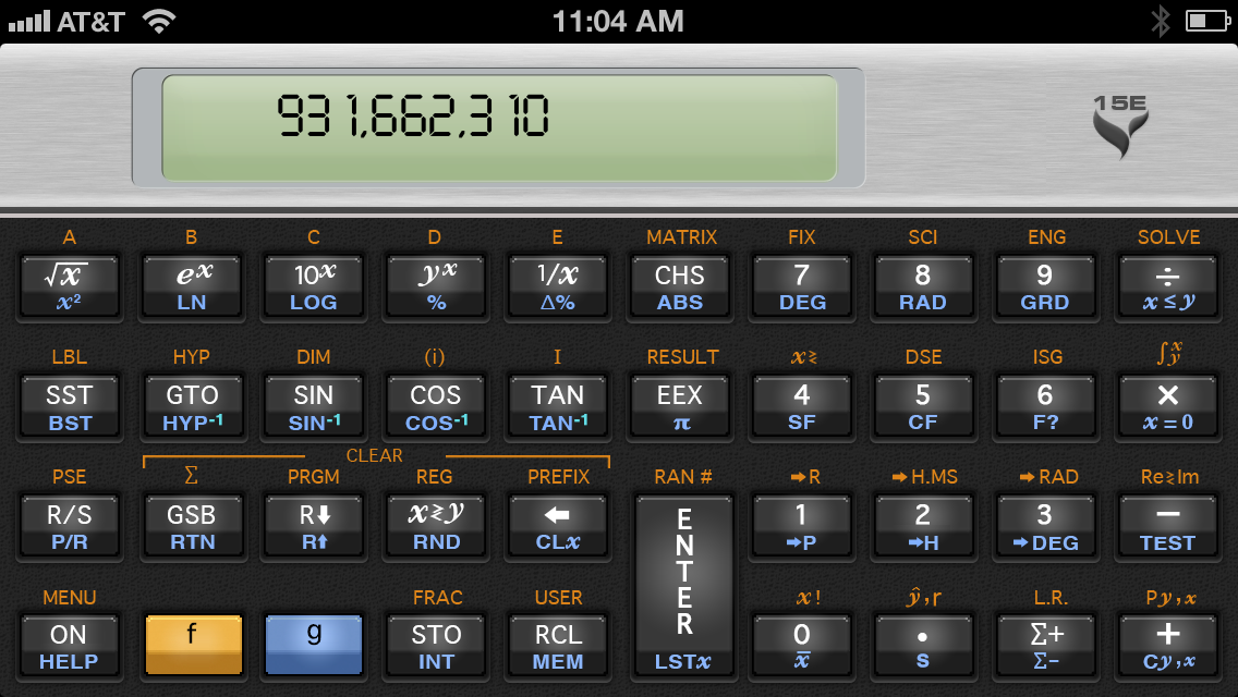 15C Scientific Calculator slide